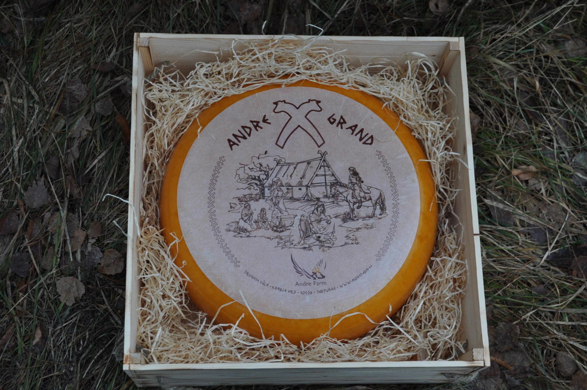 Kinkekomplekt Andre Grand juustuga